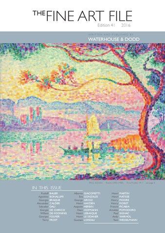 Fine Art File Edition 41 2016 By Waterhousedodd Issuu