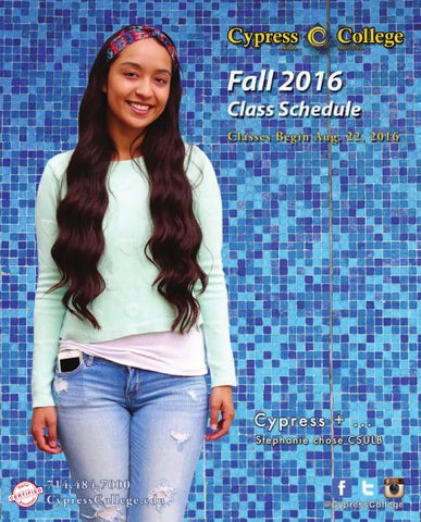 Cypress College Fall 2016 Class Schedule2016 cypress college
