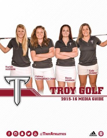 2015 16 Troy Golf Media Guide By Troy University Athletics
