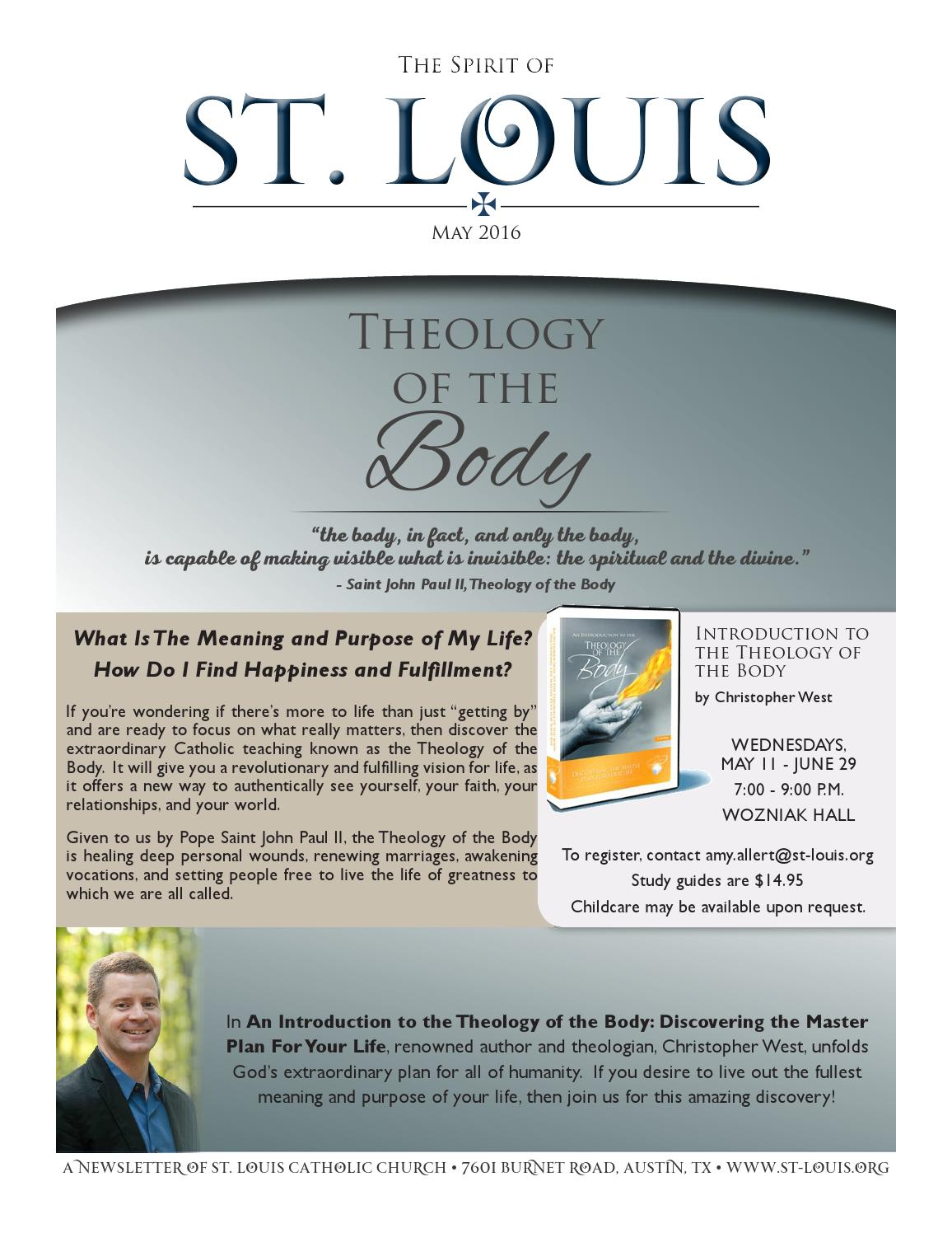 May 2016  The Spirit Of St Louis By St Louis King Of France Catholic  Church & School  Issuu