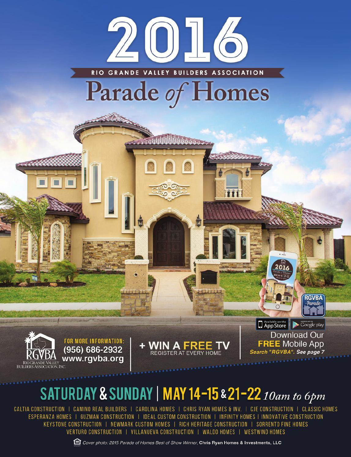 2016 Rgvba Parade Of Homes Guidebook By New Homes South