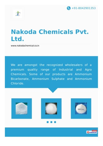 Nakoda chemicals pvt ltd by Nakoda Chemicals Pvt  Ltd  - issuu