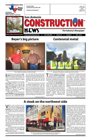 San Antonio Construction News May 2016 By Construction