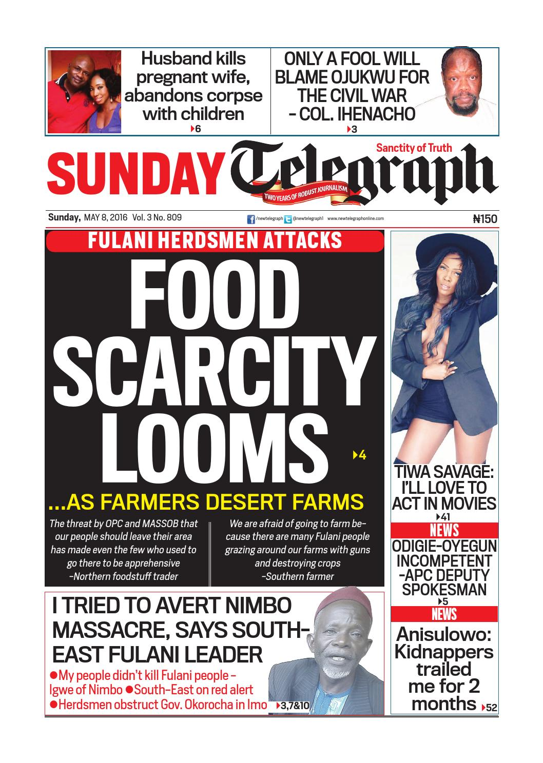 Sunday telegraph sunday, 8 may 2016