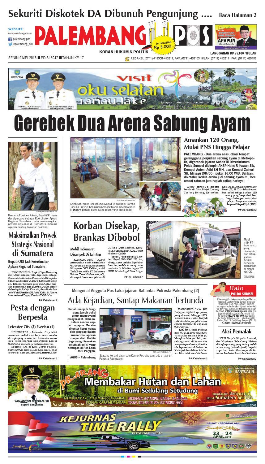 palembang pos edisi senin 9 mei 2016 by palembang pos issuu