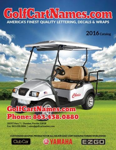 GolfCartNames.com Catalog by Jodi Eyles - issuu on