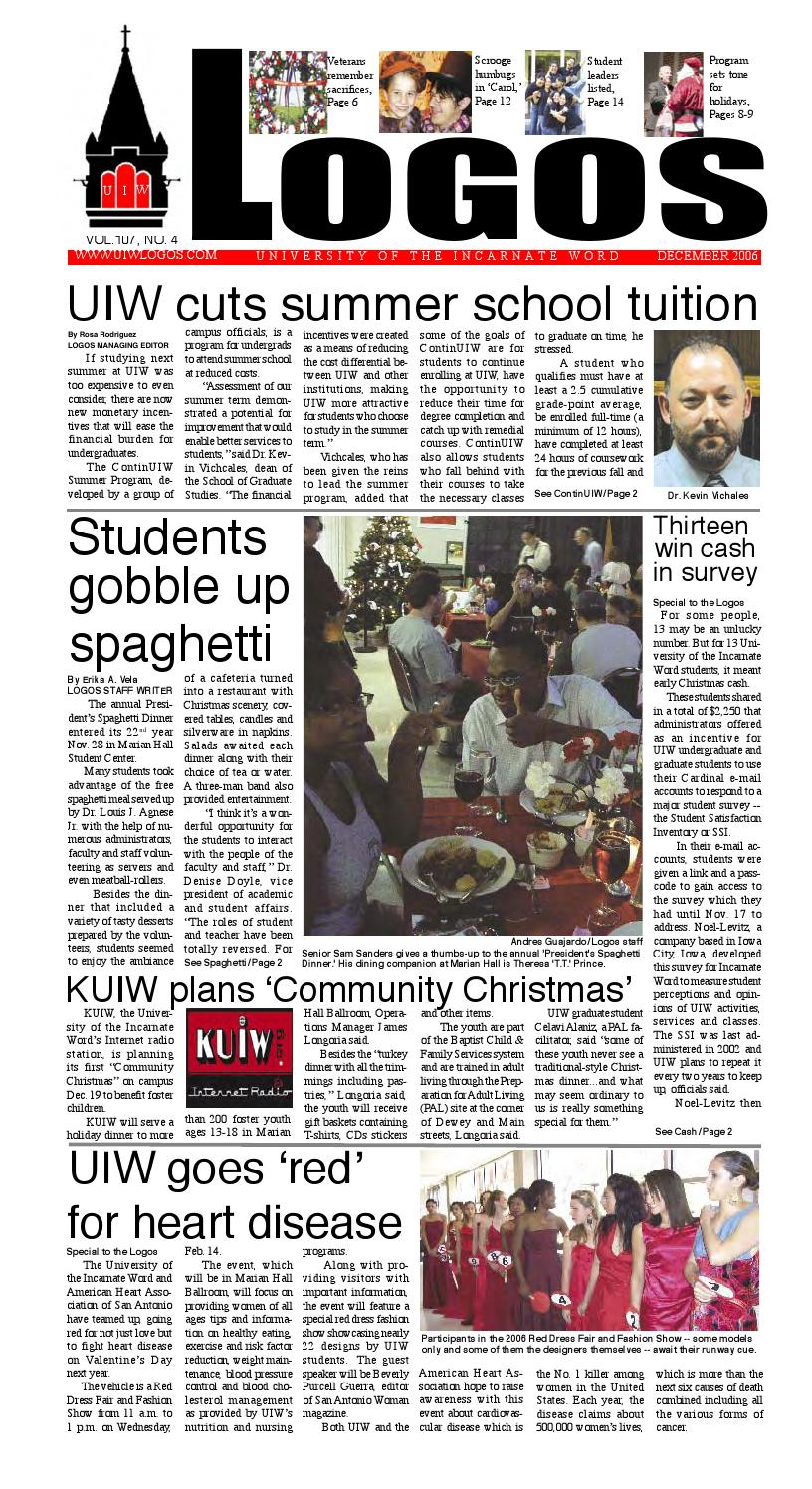 December 2006 by UIW LOGOS - issuu