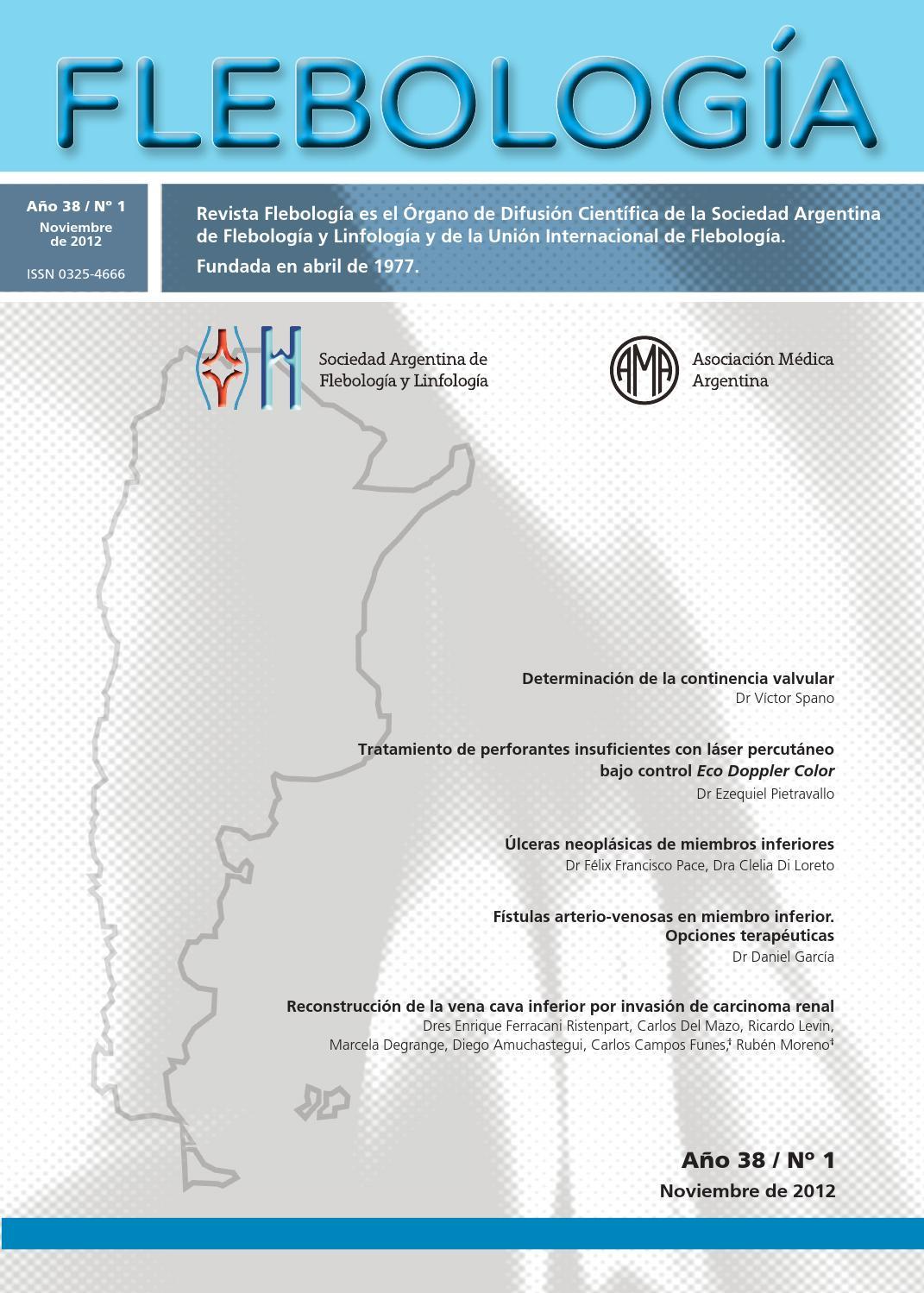 Revista Flebología Nº 1 de 2012 by Sociedad Argentina de Flebología ...