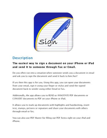 Document sign & send for iPhone & iPad by Awhbhdr - issuu