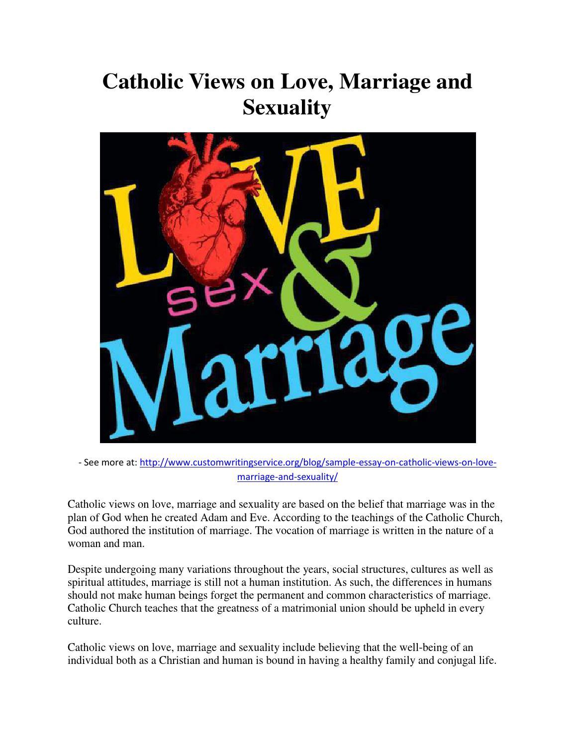 Catholic views on love by Custom Writing Services - issuu