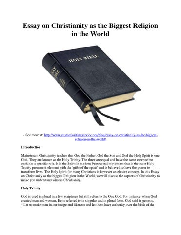 Essay On Christianity As The Biggest Religion In The World By - The biggest religion
