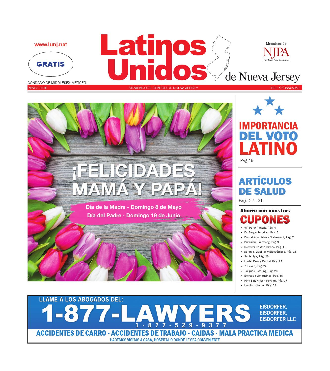 Mercer - Middlesex May 2016 by Latinos Unidos de NJ - issuu