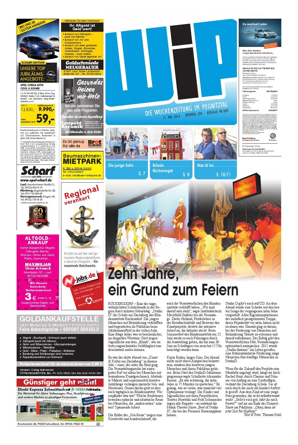 WiP 11.05.2016 by Pfeiffer Medienfabrik GmbH & Co. KG - issuu