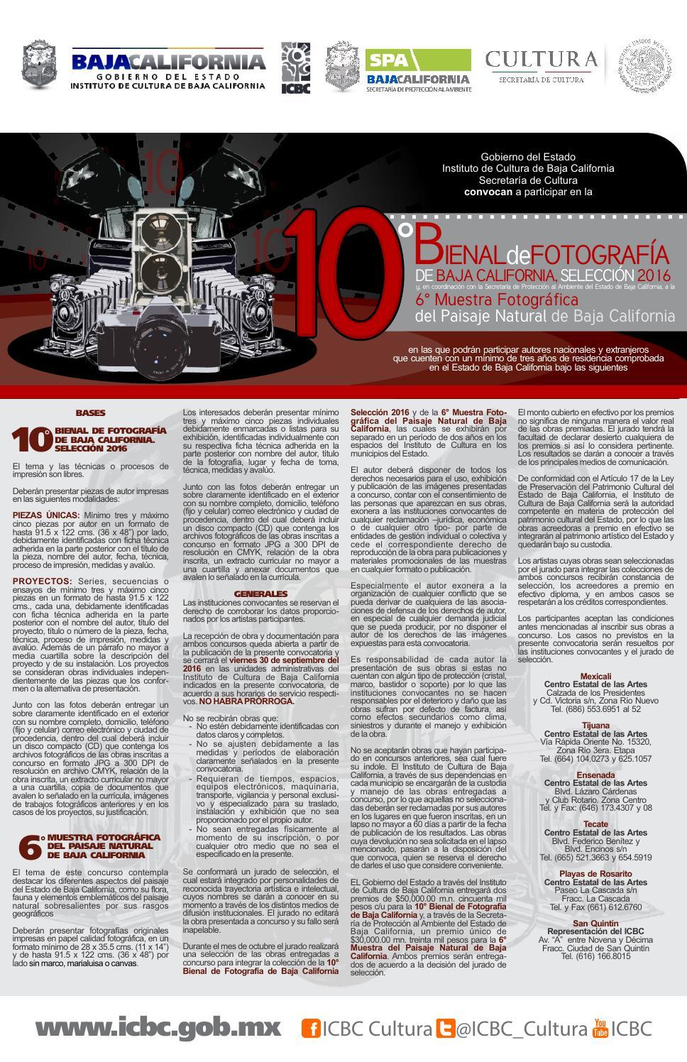 10º Bienal de Fotografía de Baja California by Issa Tuxpan - issuu