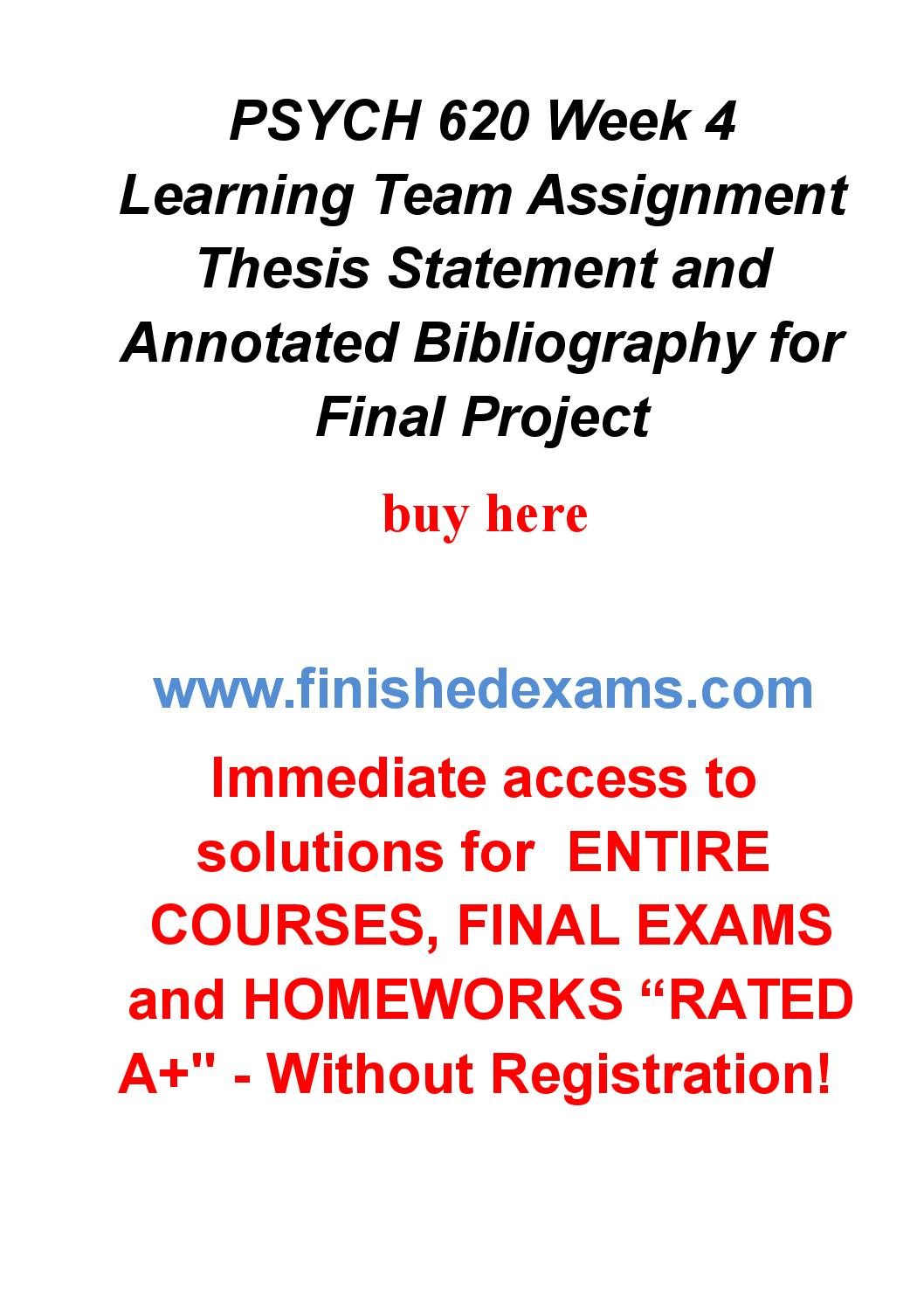 Buy final thesis