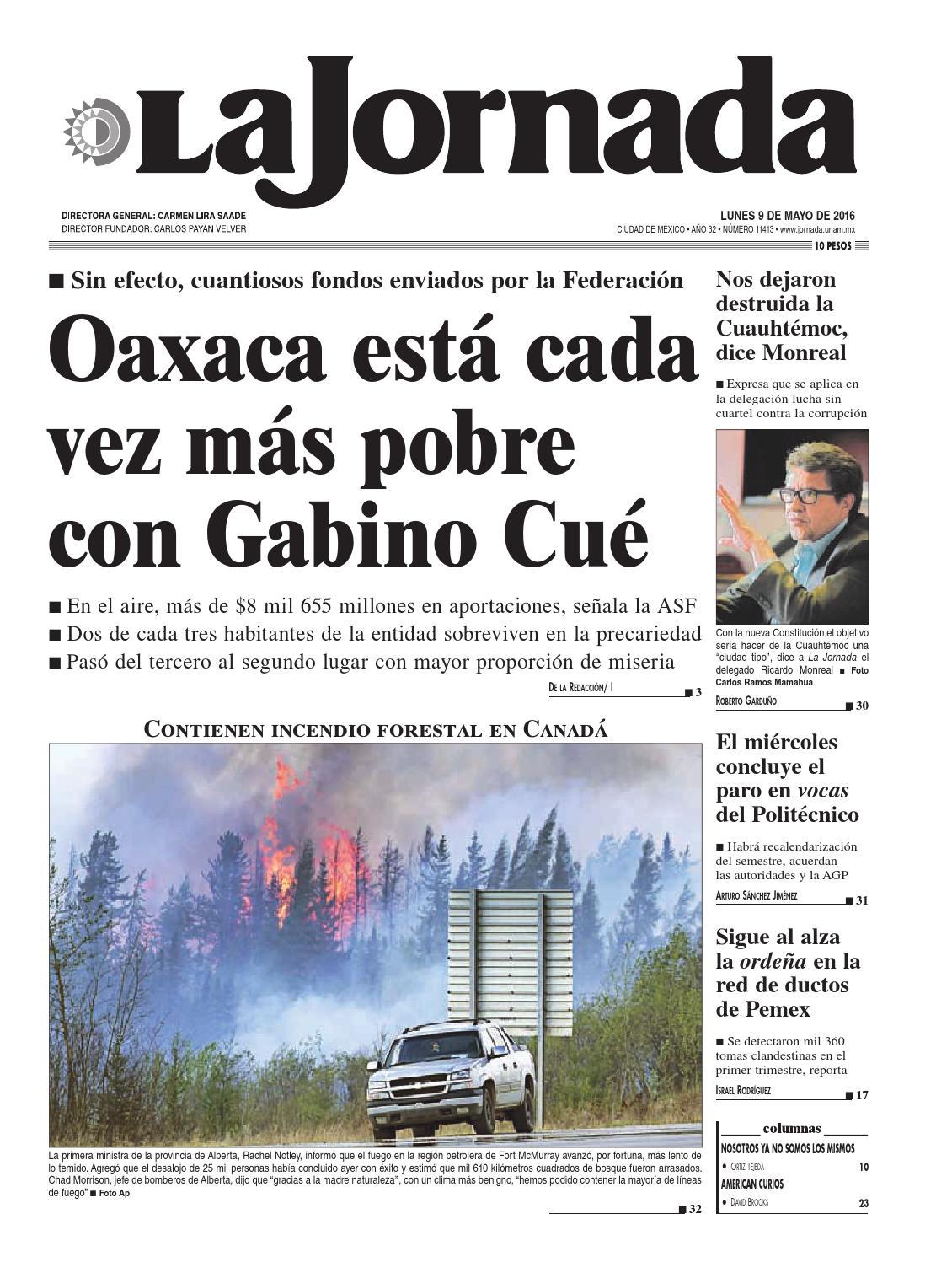 La Jornada 05 09 2016 By La Jornada Demos Desarrollo De Medios  # Vacantes Muebles Dico Guadalajara