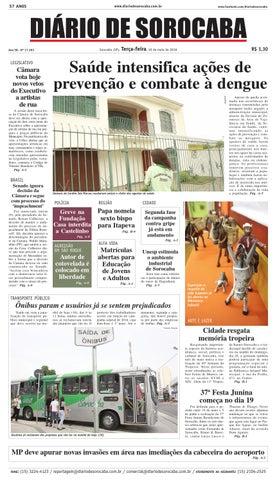 10c88a168f Edição de 10 de maio de 2016 by DIÁRIO DE SOROCABA - issuu