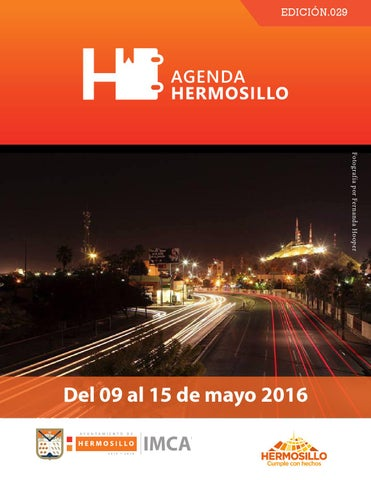 "Cover of ""Agenda hermosillo 09mayo2016"""