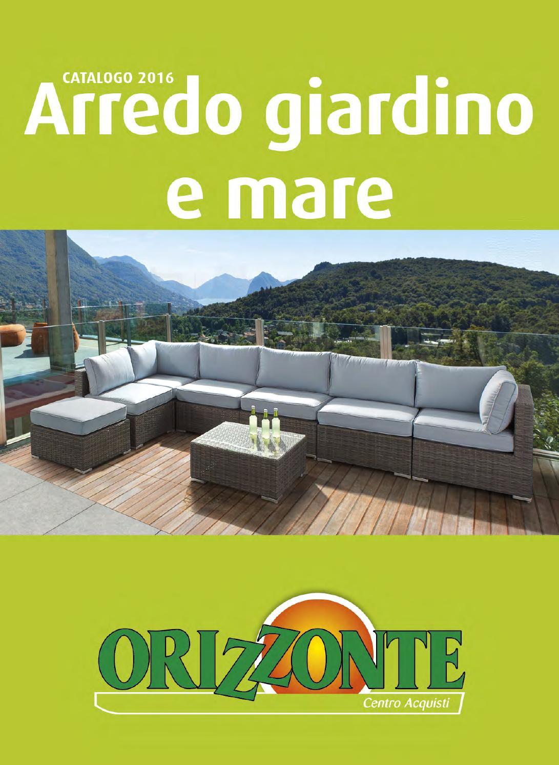 catalogo arredo giardino e mare orizzonte 2016 by alex web