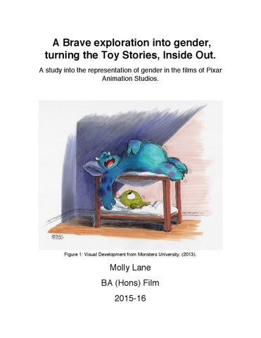 1d02c2c6b97 Gender in Pixar Films by Molly Lane - issuu
