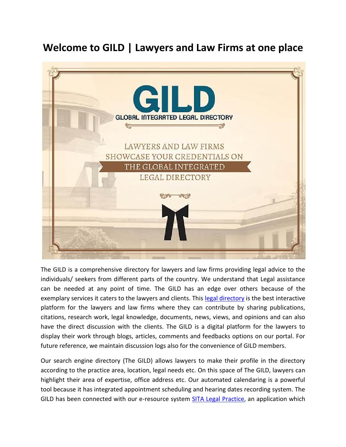 Welcome to GILD | Lawyers and Law Firms at one place by Mahi