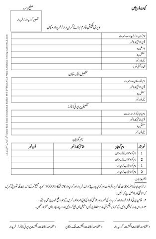 ویری فکیشن فارم Police Verification Form Lahore Cantt Division By