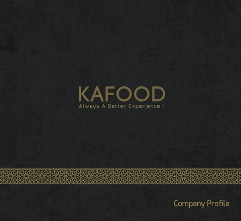 company profile kafood by KAFOOD - issuu