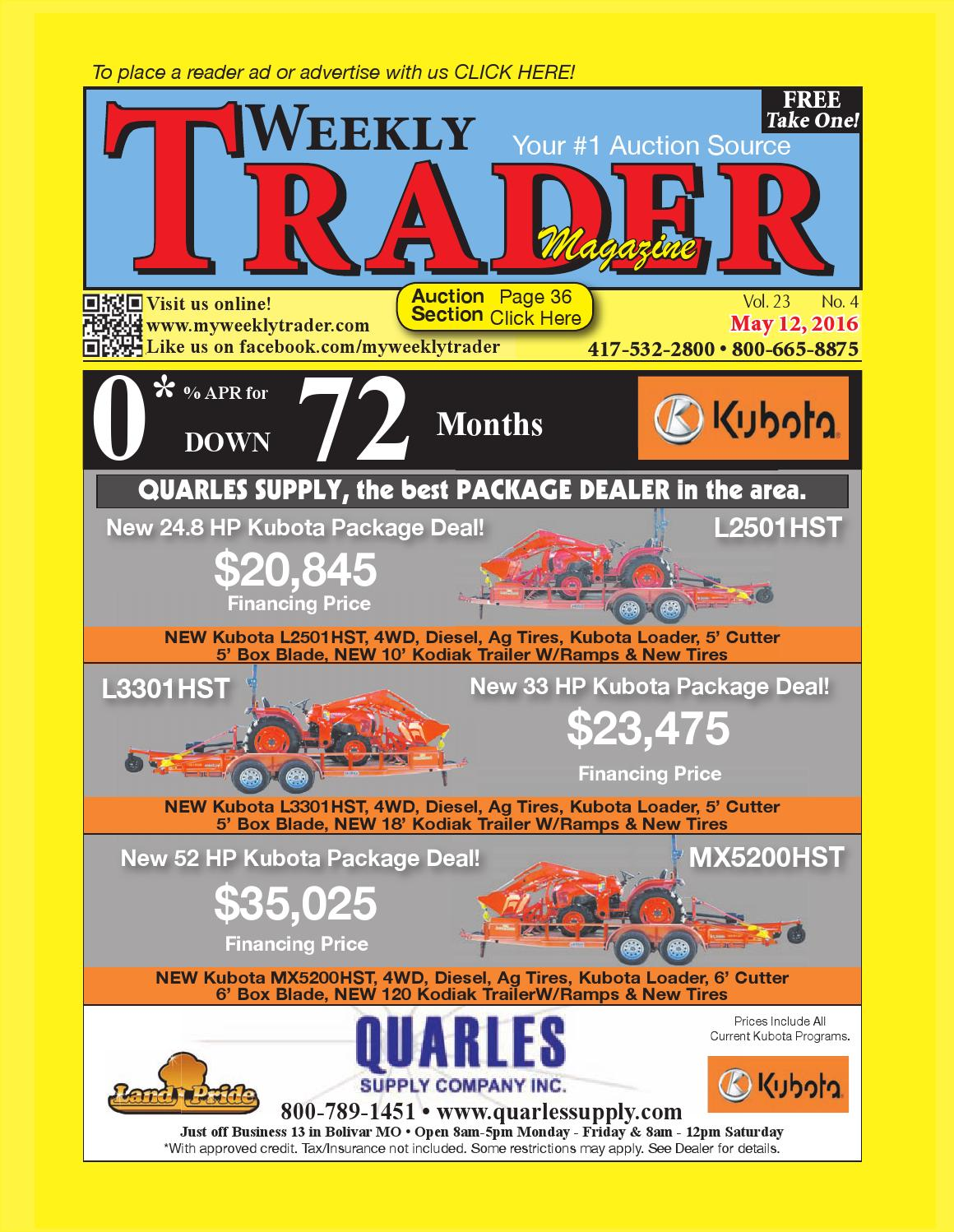 Weekly Trader May 12 2016 By Issuu Kubota Bx Tractor Wiring Diagrams Hvac