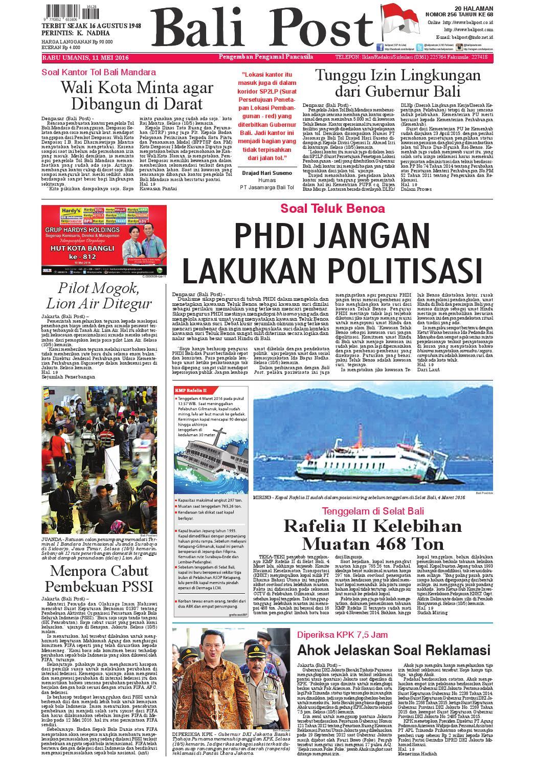Edisi 11 mei 2016 | Balipost com by e-Paper KMB - issuu