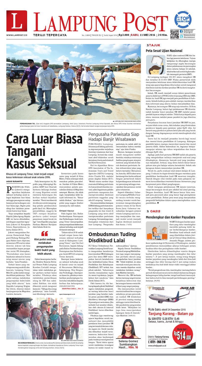 Lampung Post Rabu 11 Mei 2016 By Issuu Produk Ukm Bumn Sambal Bawang Goreng Maklin