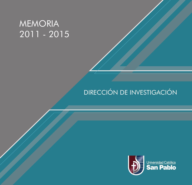 Memoria institucional de la Dirección de Investigación by Universidad  Católica San Pablo - - issuu affd995889