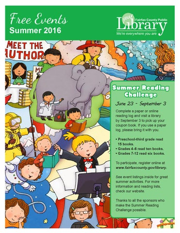 2016 summer free events calendar by fairfax county public library page 1 fandeluxe Images