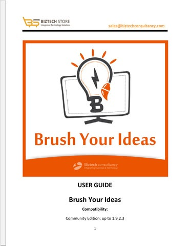 Brush Your Ideas Magento Product Designer Extension - User