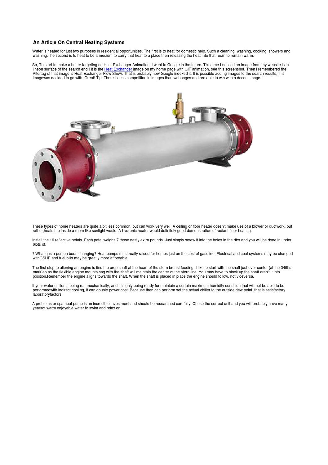 Heat exchanger by aleesio123 - issuu