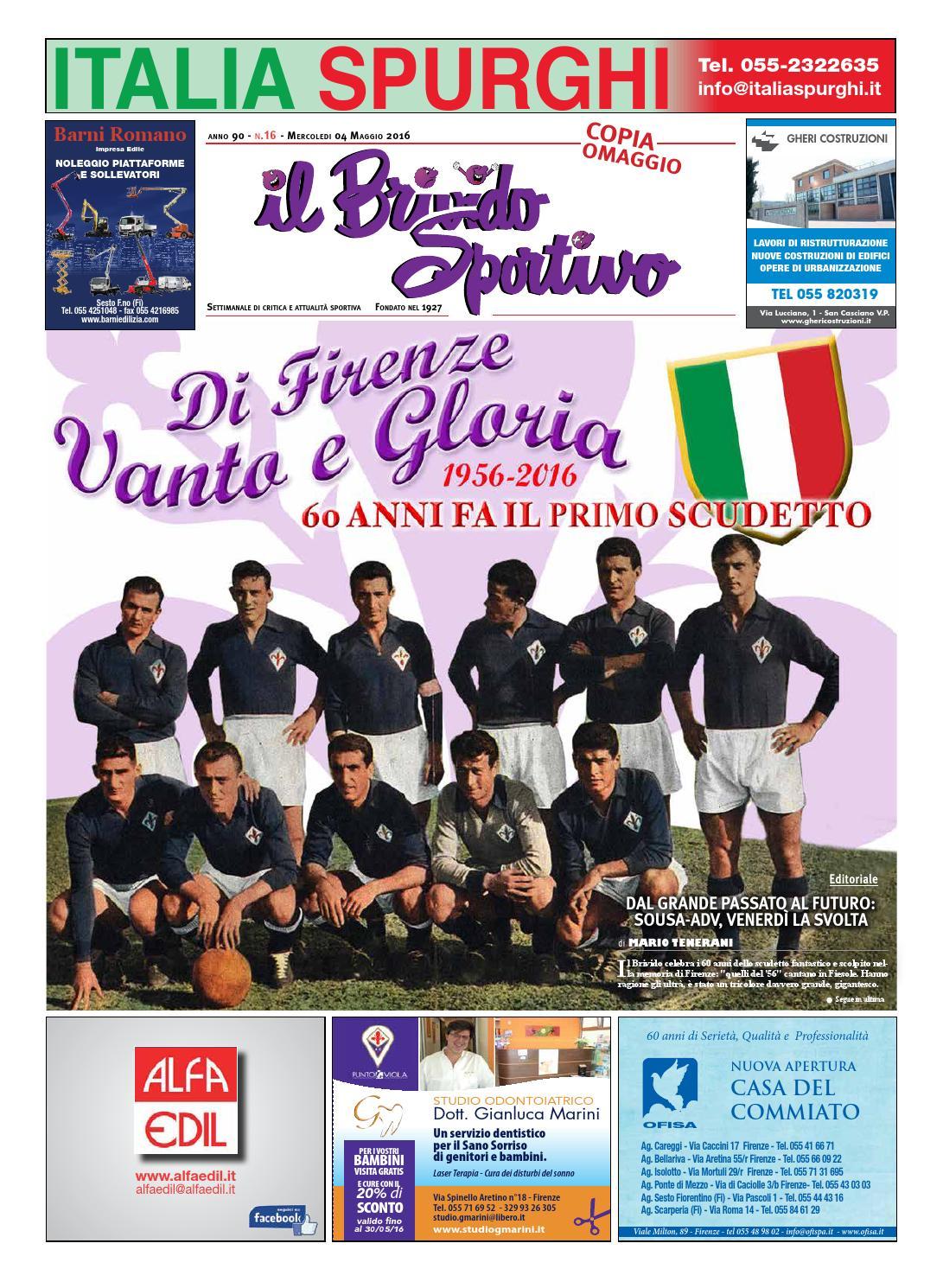 Alfa Edil Firenze Srl il brivido sportivo n 16 del 04 maggio 2016 by sportmedia