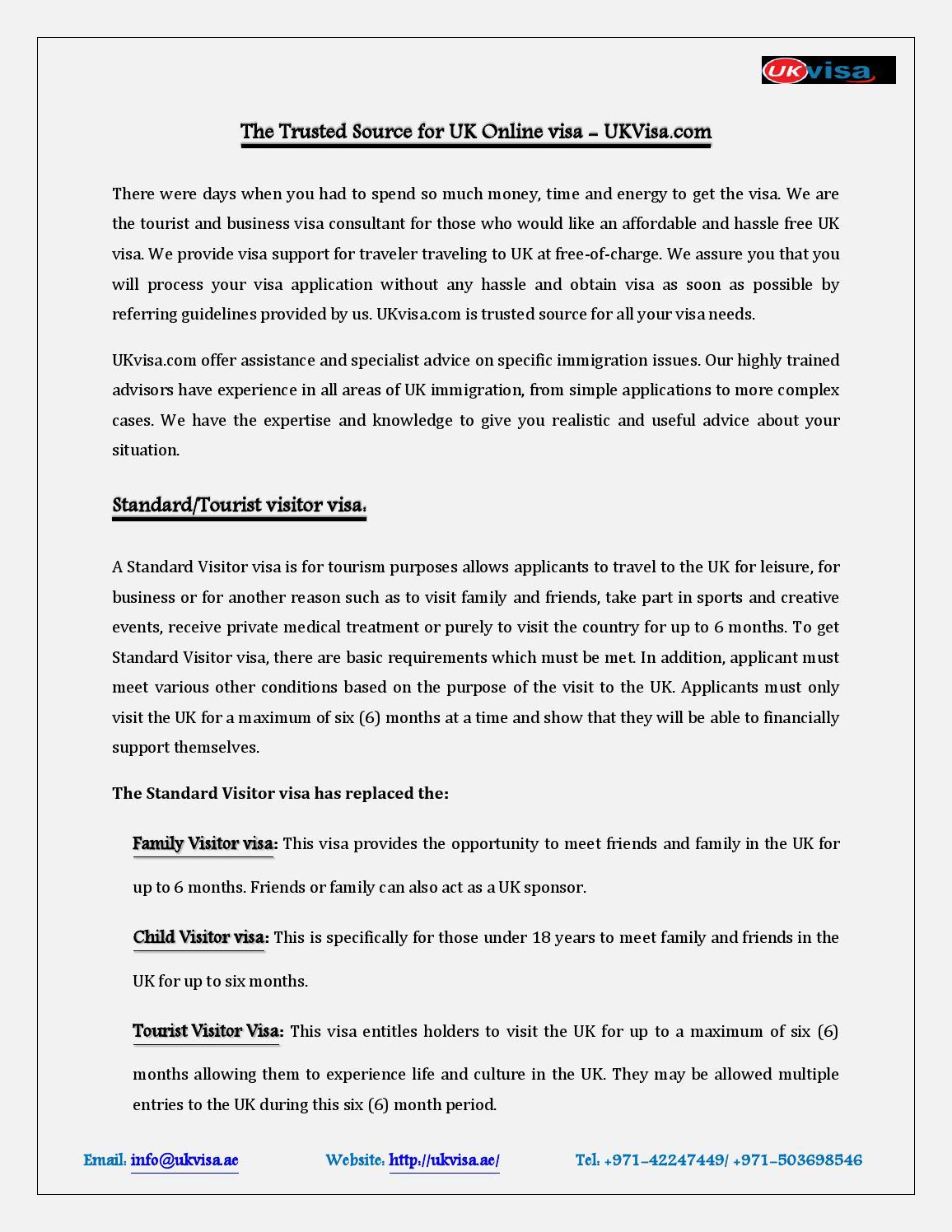 The Trusted Source For Uk Online Visa Ukvisa Ae By Kartika C Issuu