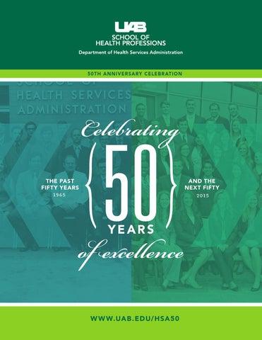 HSA 50th Anniversary Gala Program by UAB SHP - issuu
