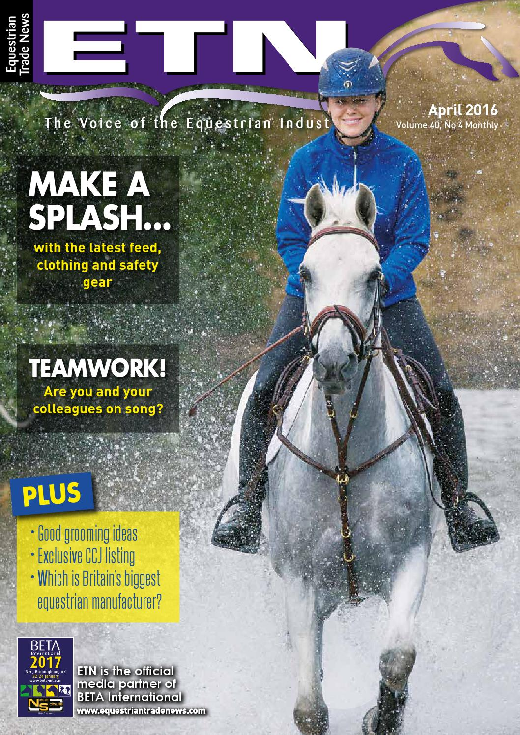 740f3f49f5bc9 ETN - Equestrian Trade News - April 2016 by ETN (Equestrian Trade News) -  issuu