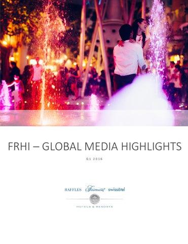 Q4 2015 Media Highlights By FRHI PR   Issuu