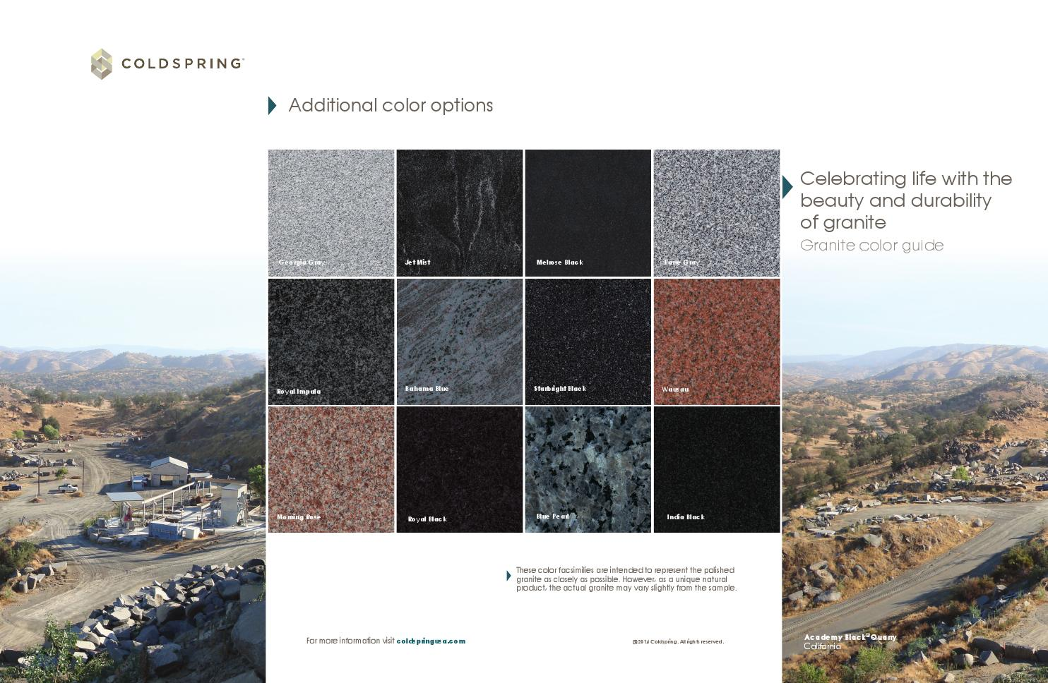Granite Color Guide By Coldspring Issuu