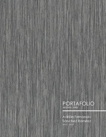 Portafolio arquitectura adri n fernando s nchez ram rez for Portadas de arquitectura
