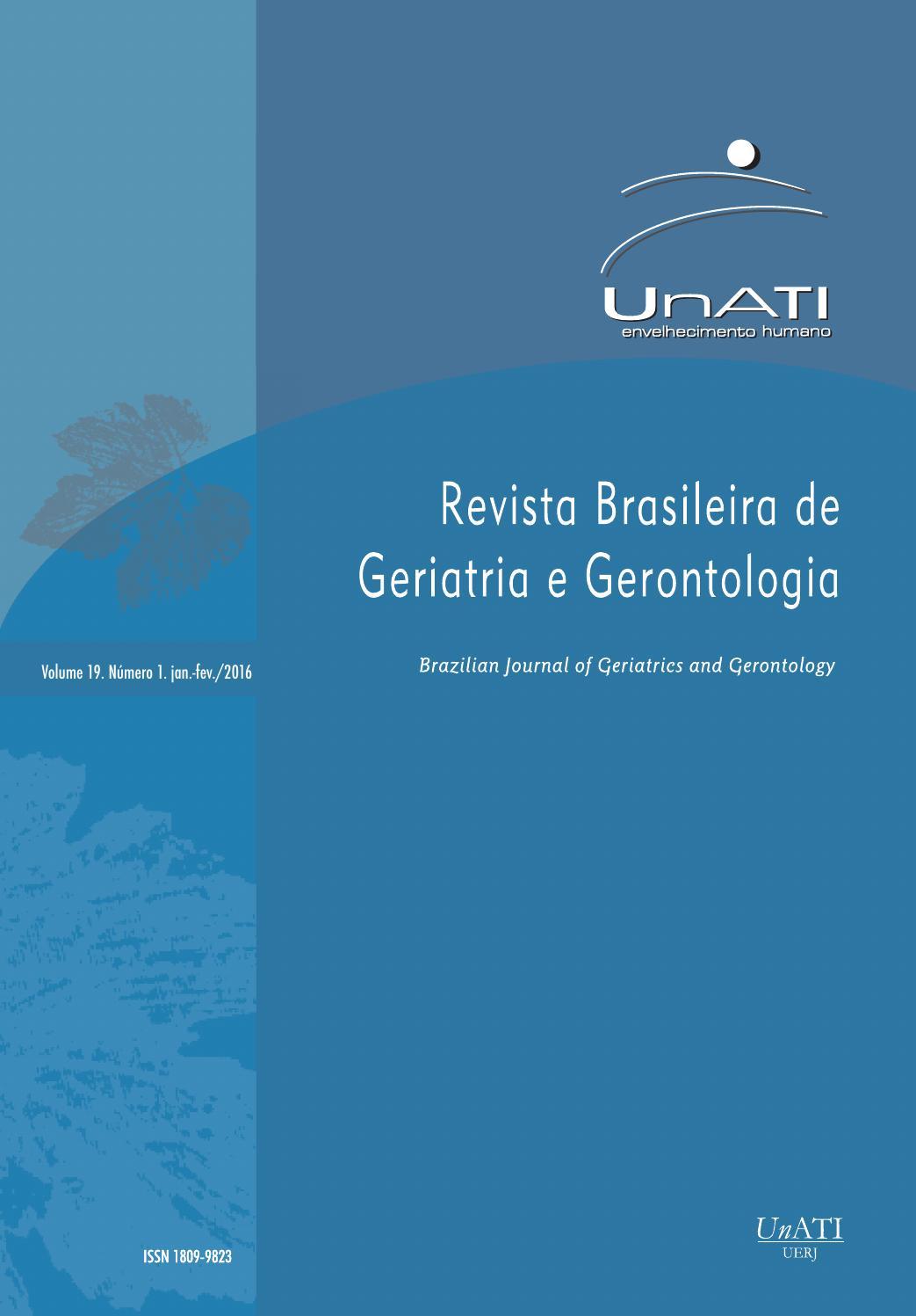 a164f53c6fee5 RBGG volume 19 nº1. Janeiro - Fevereiro 2016 by Revista Brasileira de  Geriatria e Gerontologia - RBGG - issuu