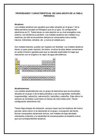Propiedades y caracteristicas de cada grupo de la tabla periodica by page 1 propiedades y caracteristicas de cada grupo de la tabla periodica urtaz Choice Image