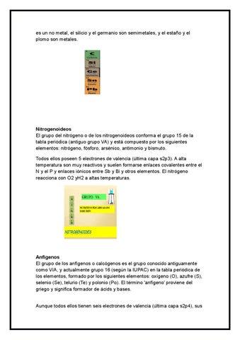 Propiedades y caracteristicas de cada grupo de la tabla periodica by page 4 urtaz Image collections