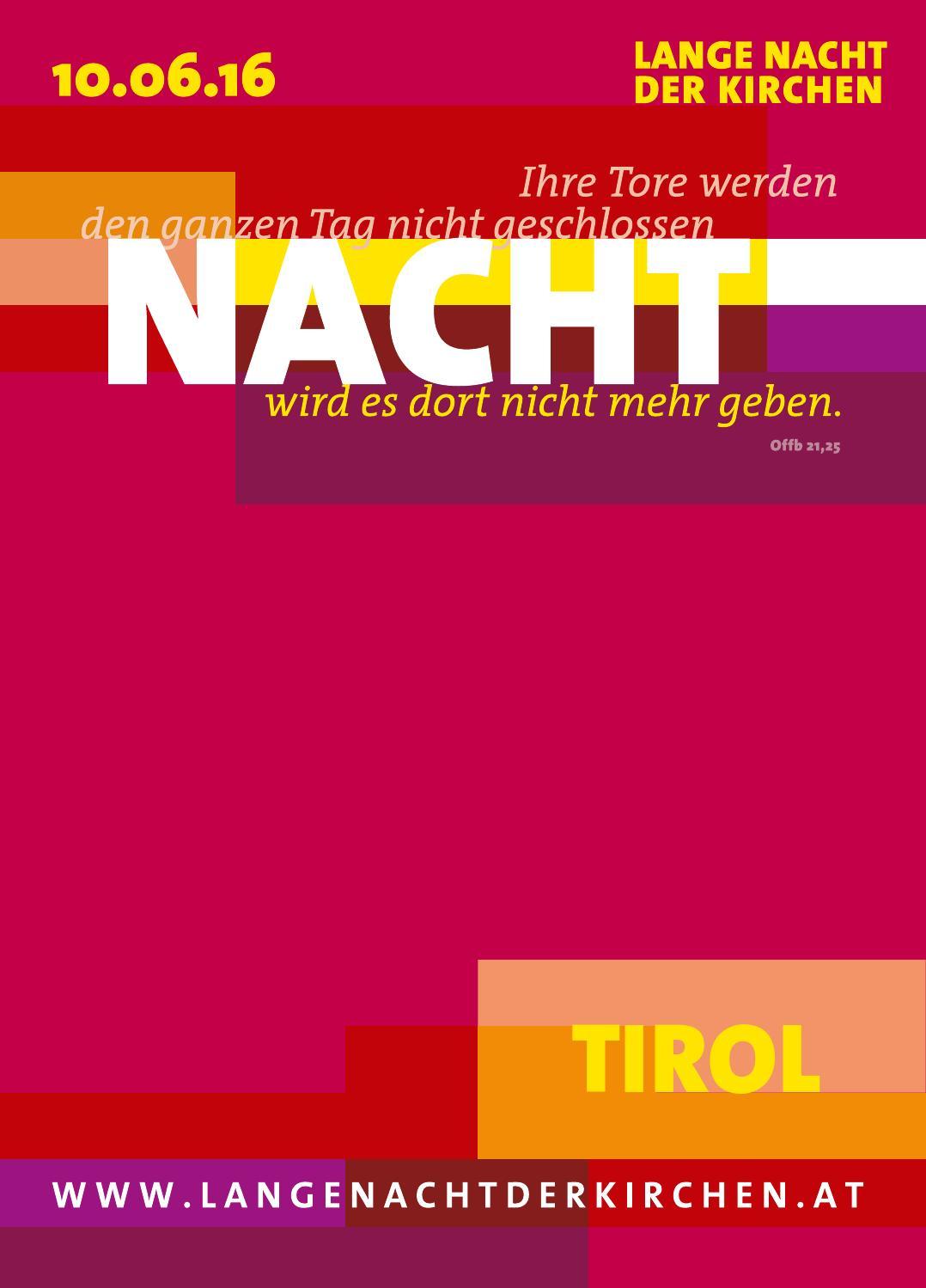 Programmheft Lange Nacht der Kirchen, Tirol, 2016 by Lange ...
