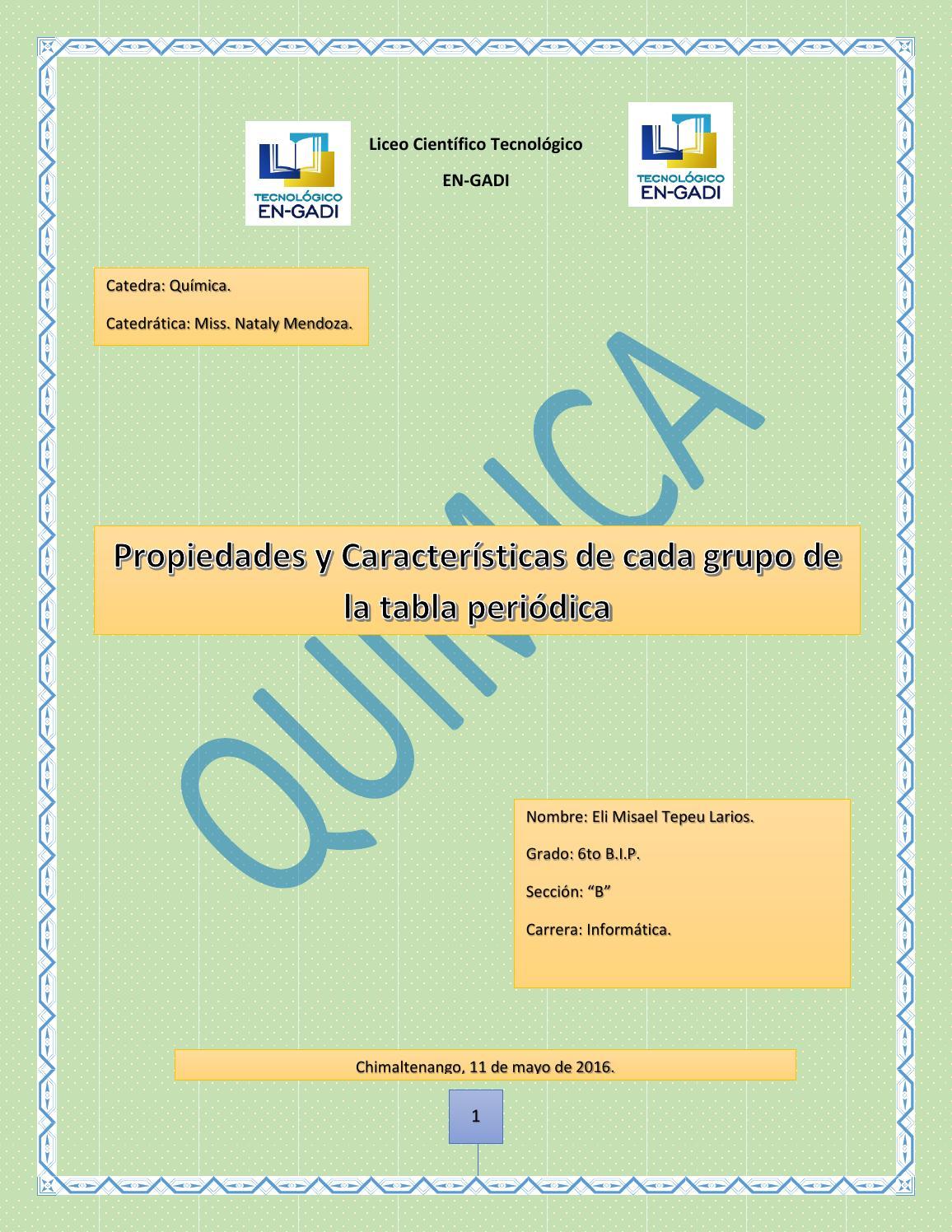 Caracteristicas de los grupos de la tabla periodica by eli larios caracteristicas de los grupos de la tabla periodica by eli larios issuu urtaz Choice Image
