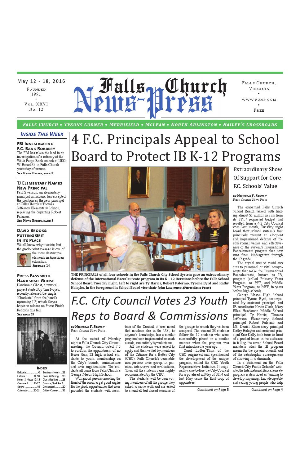Putting Grit In Its Place >> 5 12 2016 By Falls Church News Press Issuu
