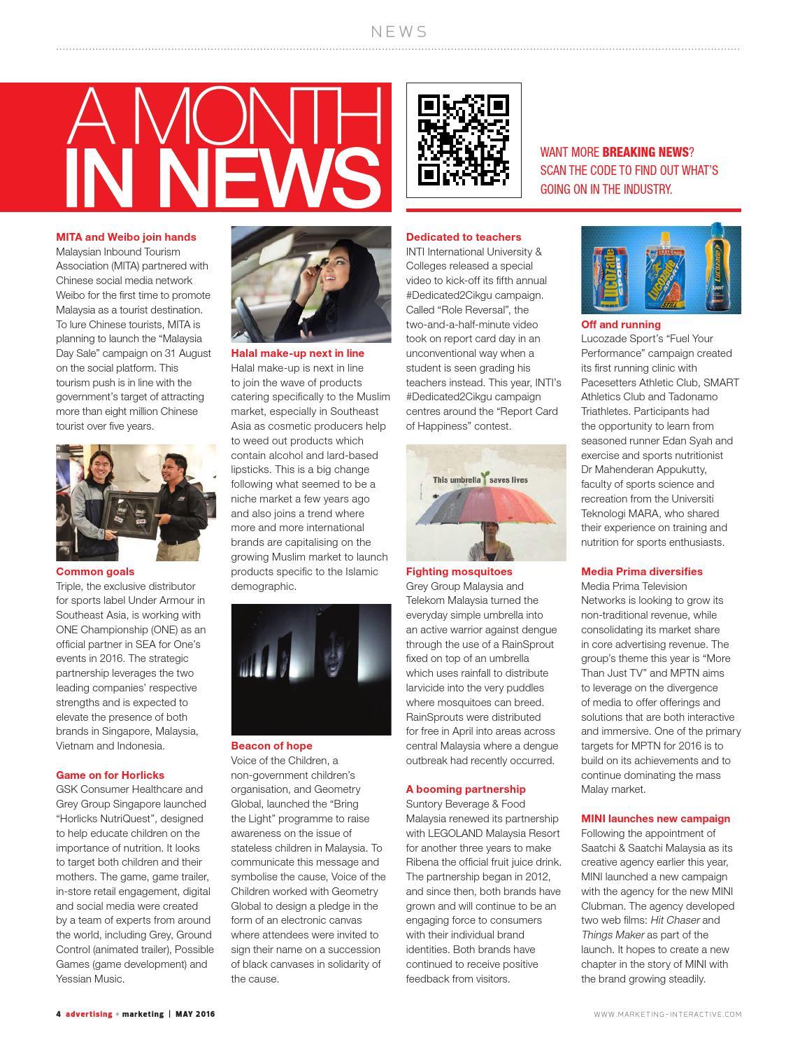 Advertising + Marketing MY - May 2016 by Marketing Magazine