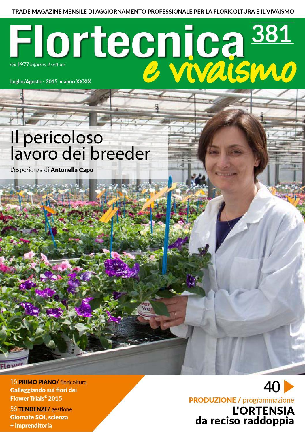 Ortensie Bianche Come Curarle flortecnica e vivaismo n.381 luglio/agosto by edizioni