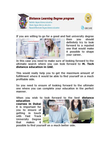 Enroll yourself for m tech distance education in uae by